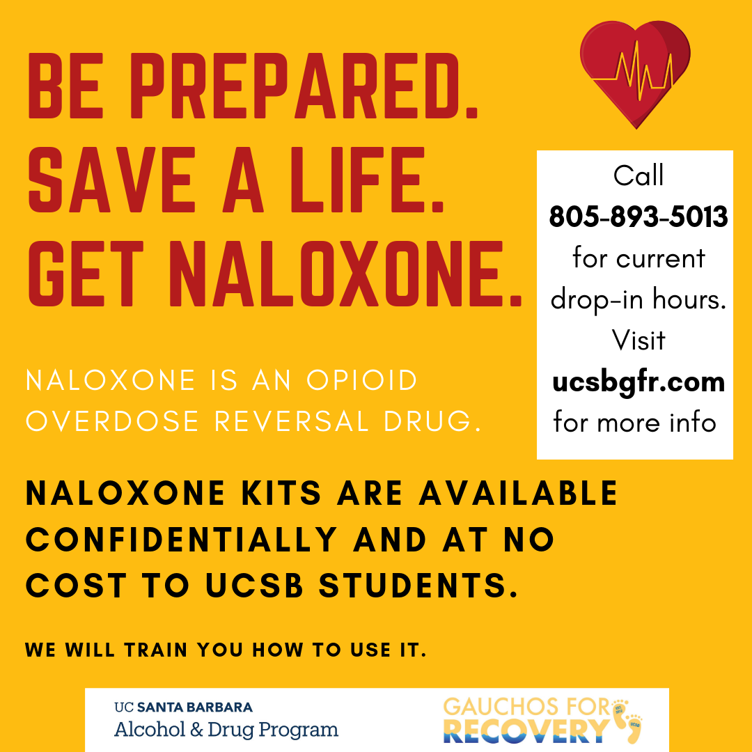 Get naloxone at UC Santa Barbara